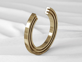 E Ring in Natural Bronze: 6 / 51.5