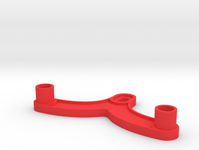 Kyosho Gallop Pipe frame rear connector in Red Processed Versatile Plastic