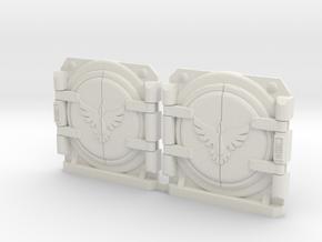 Bran Del Sangre V1 Round Style Lt. Tank Door Kit in White Natural Versatile Plastic