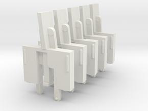 Acorn Atom Issue 4 Key Post x 5 in White Natural Versatile Plastic