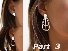 Drops Stacking Earrings - PART 3 in Polished Silver