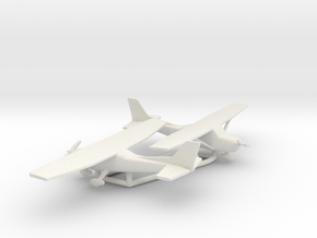 Cessna 172 Skyhawk in White Natural Versatile Plastic: 1:160 - N