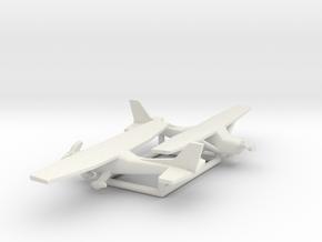 Cessna 172 Skyhawk in White Natural Versatile Plastic: 1:200