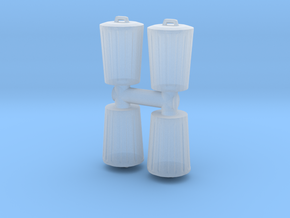 Trash can (x4) 1/100 in Smooth Fine Detail Plastic