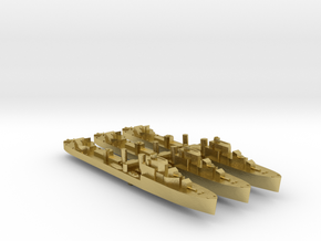 3 pack Havant class destroyer 1:1800 WW2 in Natural Brass