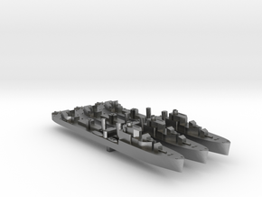 3 pack Havant class destroyer 1:2400 WW2 in Natural Silver