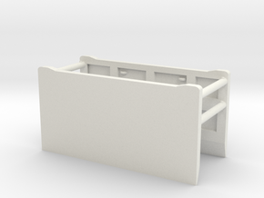1/50th Excavation Trench Box Shield in White Natural Versatile Plastic