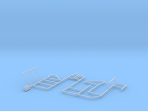 4X30 Hand Rails in Smooth Fine Detail Plastic