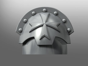 Honoris pattern shoulder pads: Black Teutons in Smooth Fine Detail Plastic: Small