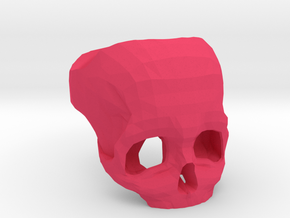 3D Printed Skull Ring by Bits to Atoms in Pink Strong & Flexible Polished