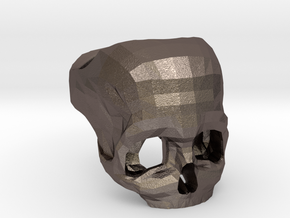 3D Printed Skull Ring by Bits to Atoms in Stainless Steel