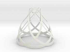 Flowing Lamp Shade  in White Natural Versatile Plastic