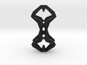 Timeless Heart, Pendant in Black Natural Versatile Plastic