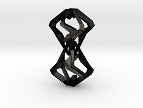 Timeless Heart, Pendant in Matte Black Steel