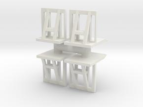 Crowd barrier (x4) 1/76 in White Natural Versatile Plastic