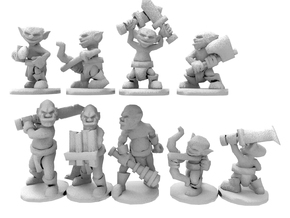 Orcs and Goblins in White Natural Versatile Plastic