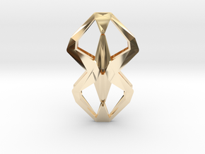 HEAD TO HEAD Una, Pendant  in 14K Yellow Gold