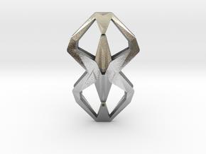 HEAD TO HEAD Una, Pendant  in Natural Silver