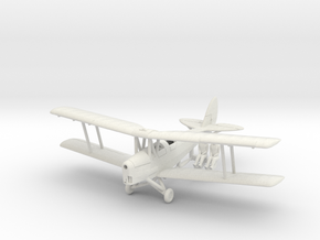 1/144 de Havilland DH82 Tiger Moth in White Natural Versatile Plastic