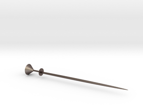 Martini Glass Martini Pick in Polished Bronzed Silver Steel