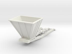 1/50th Hydraulic Excavator Bedding Conveyor, small in White Natural Versatile Plastic