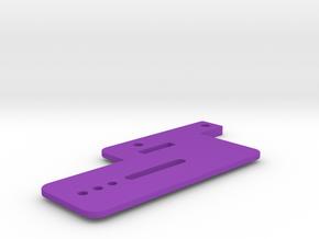 Pinball Shooter Lane - Hot Wheels Car Mount in Purple Processed Versatile Plastic