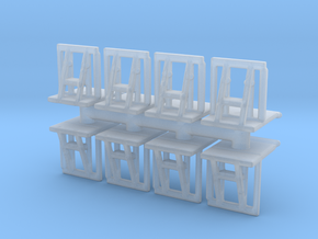 Crowd barrier (x8) 1/160 in Smooth Fine Detail Plastic