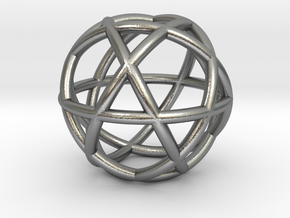Penta Sphere bead in Natural Silver