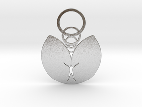 Hunter's Moon Pendant in Natural Silver