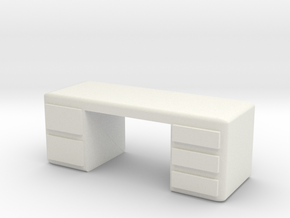 Office Desk 1/56 in White Natural Versatile Plastic