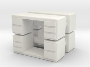 Office Desk (x4) 1/120 in White Natural Versatile Plastic