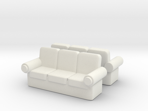Sofa (x2) 1/76 in White Natural Versatile Plastic
