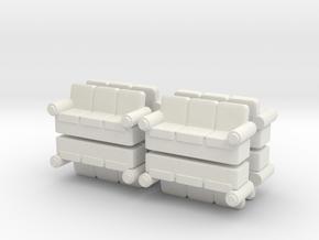Sofa (x8) 1/160 in White Natural Versatile Plastic