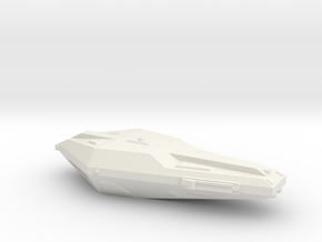 3788 Scale Hydran Voltiguer Local Defense Frigate in White Natural Versatile Plastic