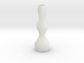 Vase 1851 in White Natural Versatile Plastic