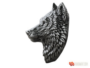 Proud Wolf pendant jewelry in Natural Brass