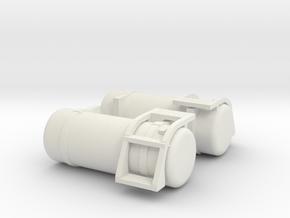 "1/64th Fuel Tank Round 60"" w short step in White Natural Versatile Plastic"