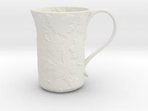 Leaves Mug in White Natural Versatile Plastic