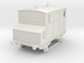 0-76-mgwr-horsebox in White Natural Versatile Plastic