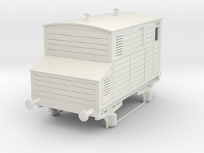 0-35-mgwr-horsebox in White Natural Versatile Plastic
