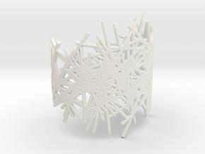 LINES BRACELET size M in White Natural Versatile Plastic
