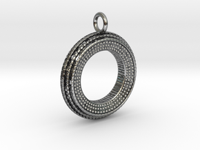 Ring Pendant in Antique Silver
