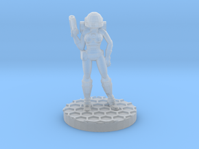 Space Girl in Smooth Fine Detail Plastic
