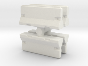 Traffic Barrier set (x4) 1/35 in White Natural Versatile Plastic
