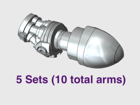 5x Marine Bionic - Adjustable Arm Sets in Smooth Fine Detail Plastic