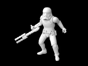 (1/47) First Order Riot Stormtrooper in Smooth Fine Detail Plastic