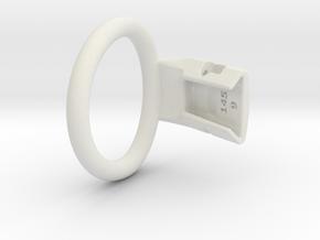 Q4e single ring M 46.2mm in White Premium Versatile Plastic
