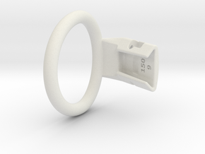 Q4e single ring M 47.7mm in White Premium Versatile Plastic