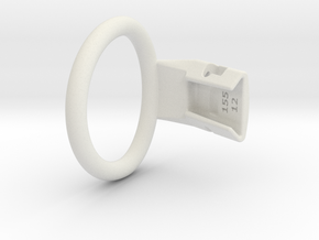 Q4e single ring L 49.3mm in White Premium Versatile Plastic