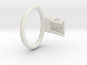 Q4e single ring M 55.7mm in White Premium Versatile Plastic